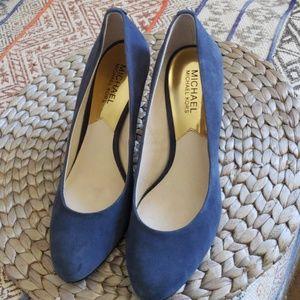 Michael Kors blue suede heels sz 8
